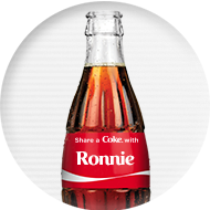 1 (One) Personalized 8-ounce Coke Bottle