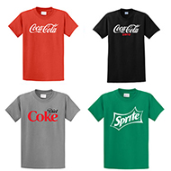 Coca-Cola, Coke Zero, Diet Coke or Sprite T-Shirt (MD-X-Large)