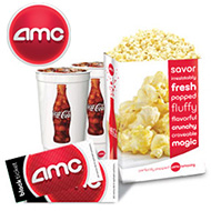 Two AMC Tickets/Two Drinks & Popcorn